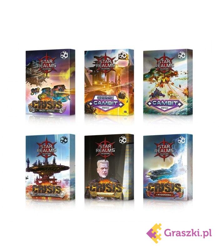 Star Realms - Pakiet 6 dodatków plus Zestaw Promo 1 (przedsprzedaż)